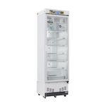 фармацевтический холодильник / в виде шкафа / 1 дверца / со стеклянной дверью