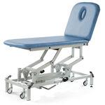 электрический массажный стол / гидравлический / с регулируемой высотой / на роликах