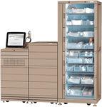 автоматизированная система распределения медикаментов для лекарств / для аптеки / на роликах / с компьютером