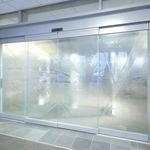 раздвижная дверь / для больниц / из стекла / автоматическая