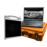 плоский детектор для ветеринарной радиографии / переносной