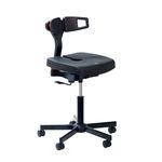 стул для офиса / на колесиках / эргономичный / с регулируемой высотой