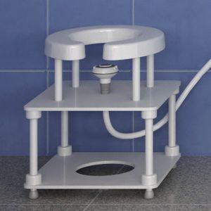 табурет для душа / с отверстием для туалета / с регулируемой высотой