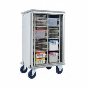 шкаф для стерилизации / для больниц / 2 дверцы / с распашной дверцей