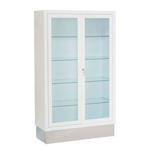 витрина для приборов / с полкой / 2 дверцы / фиксируемая