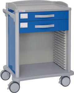 многофункциональная тележка / 2 выдвижных ящика / для больниц / из алюминия