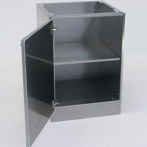 шкаф для оснований / для лабораторий / с распашной дверцей / из нержавеющей стали
