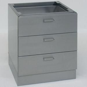шкаф для оснований / для лабораторий / 3 выдвижных ящика / из нержавеющей стали
