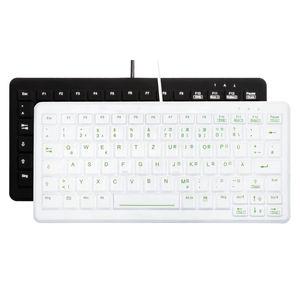 Медицинская клавиатура USB / из силикона / дезинфицируемая / моющаяся