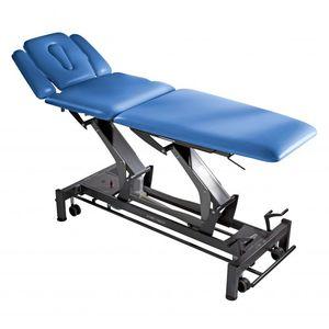 электрический массажный стол / на роликах / с регулируемой высотой / с подставкой для рук