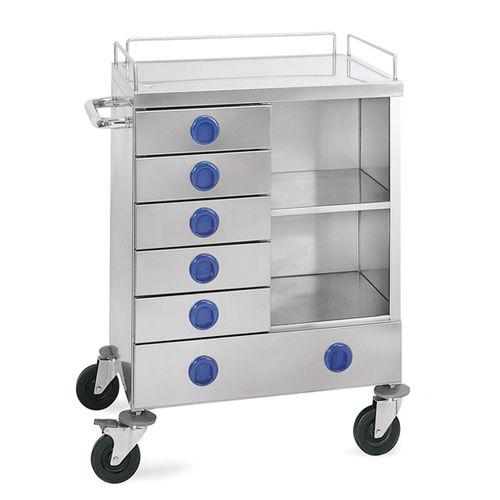транспортная тележка / для перевязки / с выдвижным ящиком