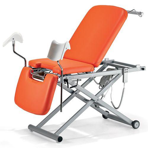 гинекологический диагностический стол / электрический / с регулируемой высотой / на роликах