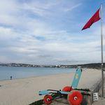 инвалидная коляска с ручным управлением / для пляжа