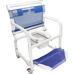 стул для душа / с отверстием для туалета / с подлокотниками / на колесиках