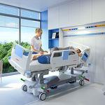 кровать для интенсивной терапии / электрическая / с регулируемой высотой / с наклоном вбок