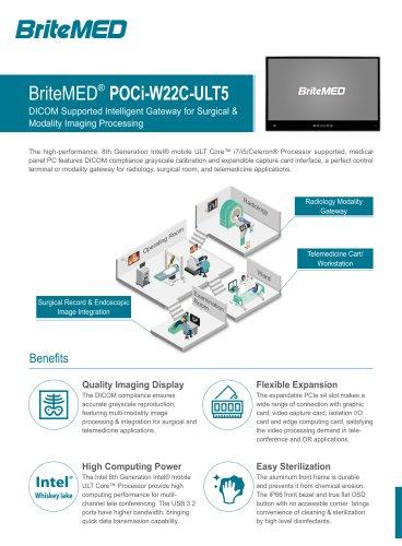 BriteMED Modality Panel PC POCi-W22C