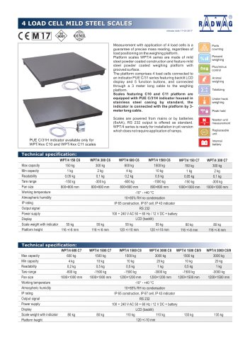 4 LOAD CELL MILD STEEL SCALES