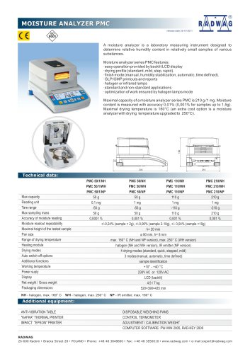 MOISTURE ANALYZER PMC