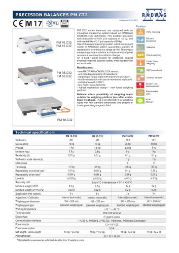 PRECISION BALANCES PM C32