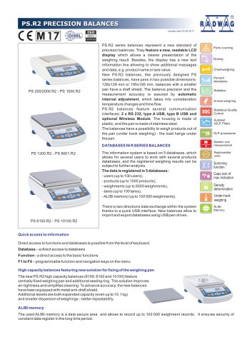 PS.R2 PRECISION BALANCES