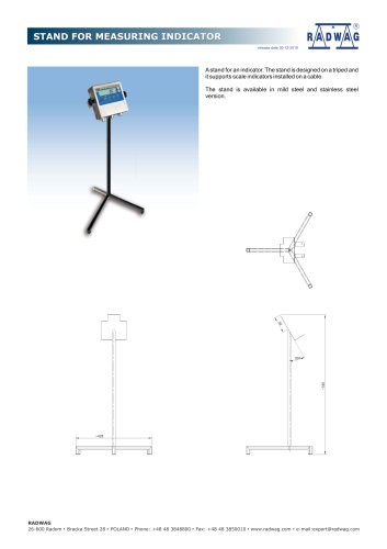 STAND FOR MEASURING INDICATOR