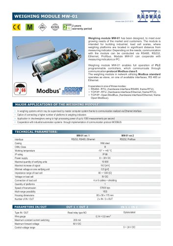 WEIGHING MODULE MW-01