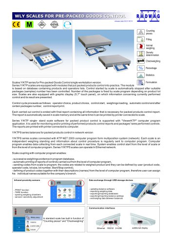 WLY SCALES FOR PRE-PACKED GOODS CONTROL