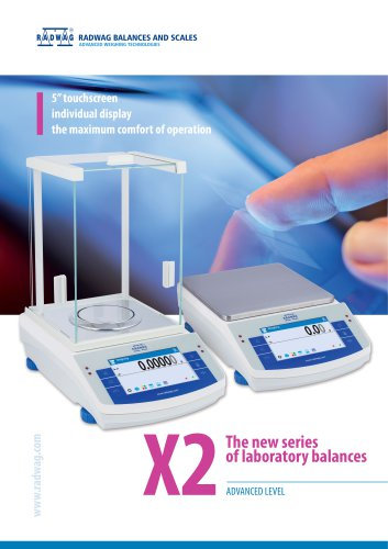 X2 The new series of laboratory balances