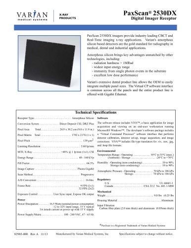 PaxScan® 2530DX