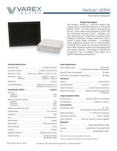 PaxScan® 4030X
