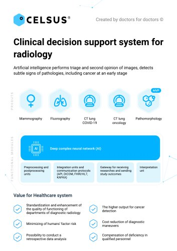 Сlinical decision support system for radiology