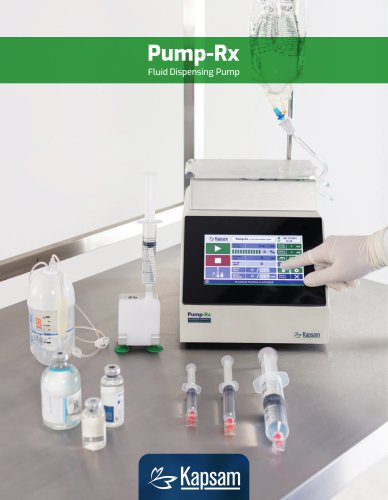 KAPSAM Pump-Rx Automated Pharmacy Fluid Dispensing Pump