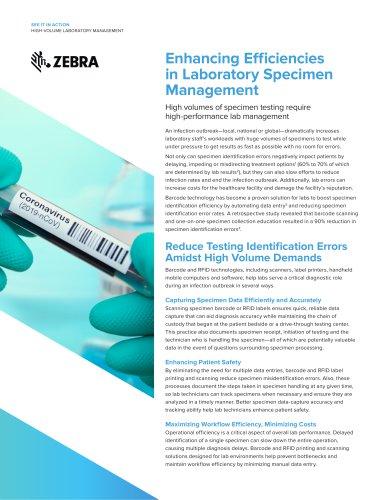 Zebra High Volume Laboratory Management