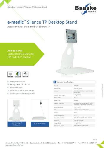 e-medic? Silence TP Desktop Stand
