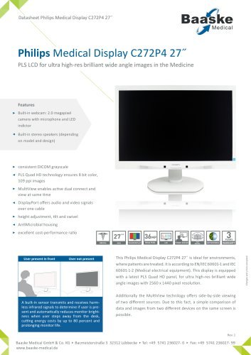 Philips Medical Display C272P4 27''