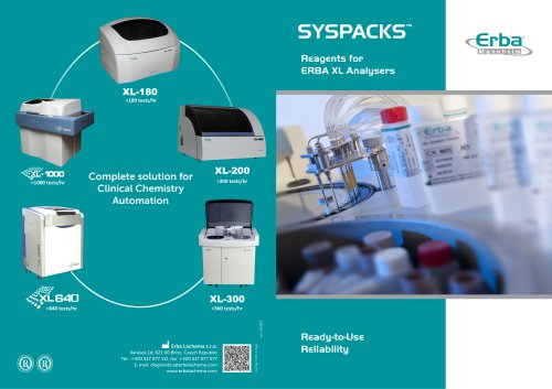 SYSPACKS ™ Reagents for ERBA XL Analysers