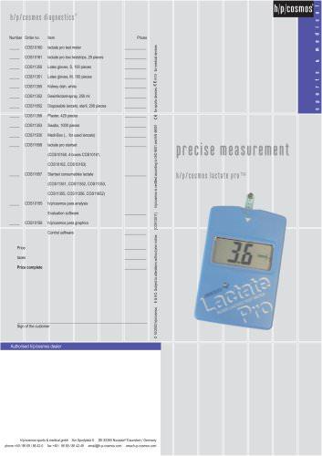 Lactate test meter lactate pro