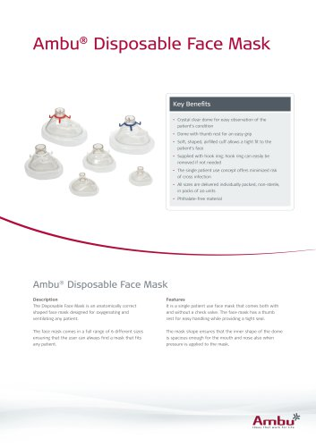 Ambu® Disposable Face Mask