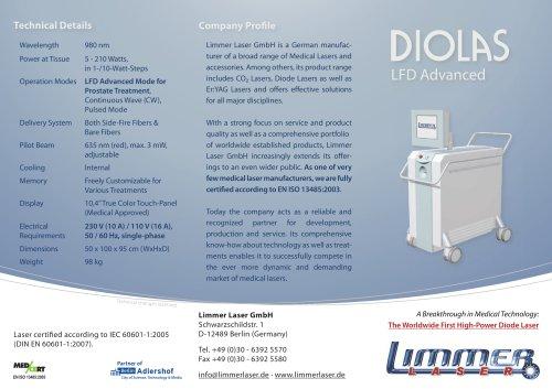 High-Power Laser DIOLAS LFD Advanced