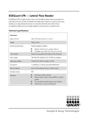 ESEQuant LFR — Lateral Flow Reader