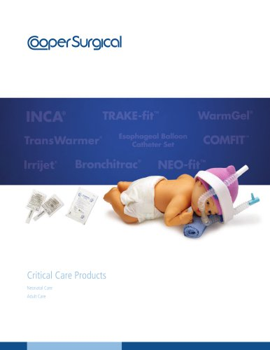 Critical Care Products Catalog