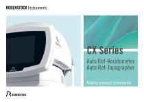 CX Series: CX 800, CX 2000, CXT 3000