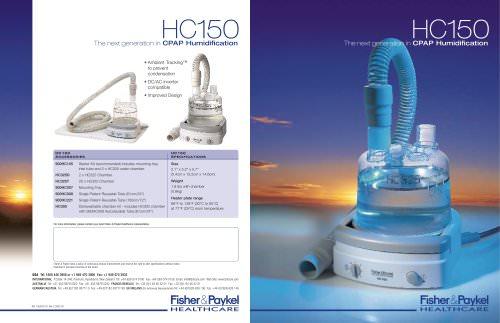 HC150 Specification Sheet