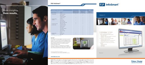 InfoSmart? Specification Sheet