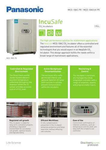 IncuSafe CO2 Incubator MCO-18AC Product Sheet