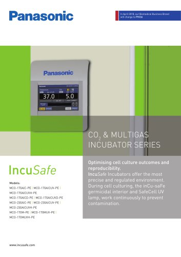 IncuSafe CO2 & Multigas Incubators Brochure