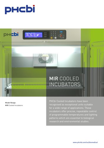 MIR COOLED INCUBATORS