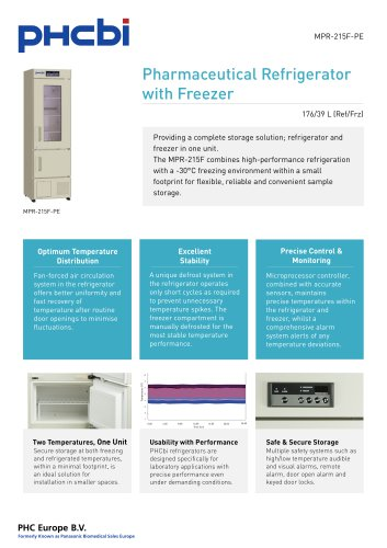 MPR-215F-PE Pharmaceutical Refrigerator with Freezer