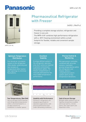 MPR-414F Pharmaceutical Refrigerator with Freezer