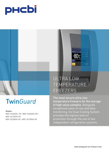 TwinGuard ULTRA LOW TEMPERATURE FREEZERS